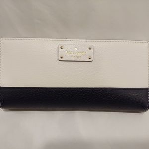 Kate Spade Navy and White Leather Wallet
